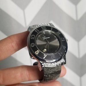 GENEVA black and silver watch